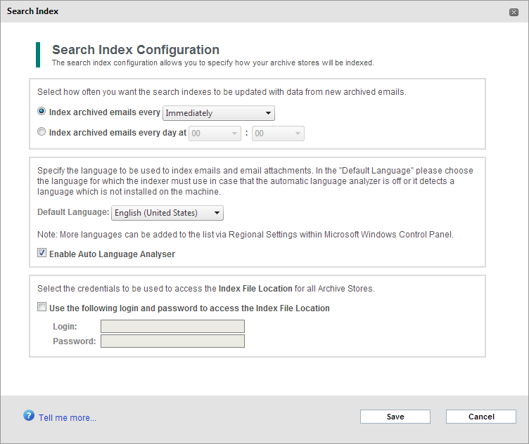 SQL Server /Firebird database is located. 3. Indexes are used only for searches.
