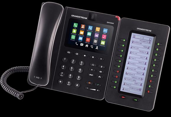 GRANDSTREAM GXV3275 purchase $300 rental $15/month* *Includes Lifetime Hassle-free Warranty & Overnight Delivery The GXV3275 & GXV3240 Video IP Phones for Android combines a 6-line IP video phone