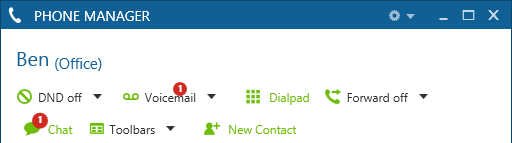 Phone Manager 43 3.5 Chat 3.5.1 Overview Chat is an instant messaging style feature that allows Users to exchange short messages with other Users.