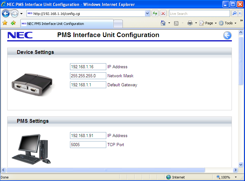 25 From this screen it is possible to configure all the necessary settings for the PMS adapter to operate successfully with the PBX and PC containing FIAS 2.11 compliant Front of House software.