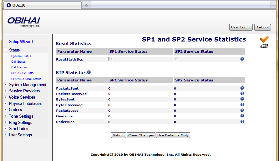 Services, Phone & Line Status Statistics relevant to SPn can be found on the SPn