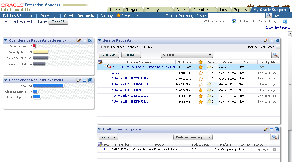 Automated Configuration Upload to My Oracle Support Reduce Problem Resolution