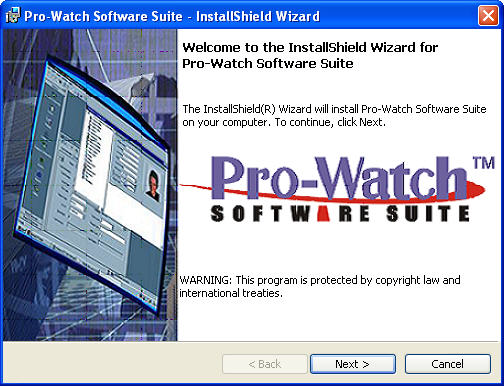 Upgrade Installation Process Upgrade Installation Process Pro-Watch Software Suite Release 3.81 must be already installed before you begin this procedure. 1.