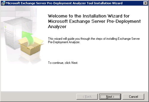 RUNNING THE EXCHANGE PRE-DEPLOYMENT ANALYZER The Exchange Pre-Deployment Analyzer performs a readiness scan of your existing environment and reports on configuration items that are either critical (i.