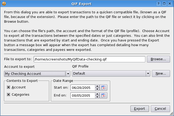 OFX Importer Plugin Ace Jones <acejones@users.sourceforge.net> Thomas Baumgart <ipwizard@users.sourceforge.net> Getting the plugin KMyMoney will import OFX files painlessly.