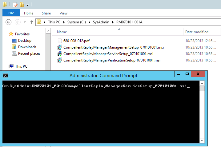 5 To install the hardware VSS Provider (part of Compellent Replay Manager) you need open up an elevated command prompt (run your command shell as an administrator),