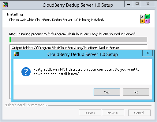 How to Setup Dedup Server Install CloudBerry Dedup Server following the installation wizard steps.