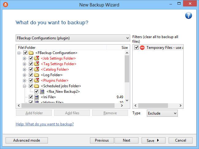 New Backup Wizard 43 The user can choose Cancel to stop the backup process or Retry to check the network connection again. 5.3 What do you want to backup?