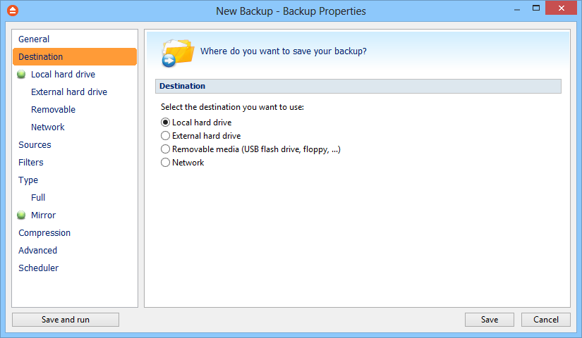 50 FBackup 5 rename or some files are locked. Description You can write in here a text describing the backup job defined. Icon Press the Change Icon button to manage the backup job icons.