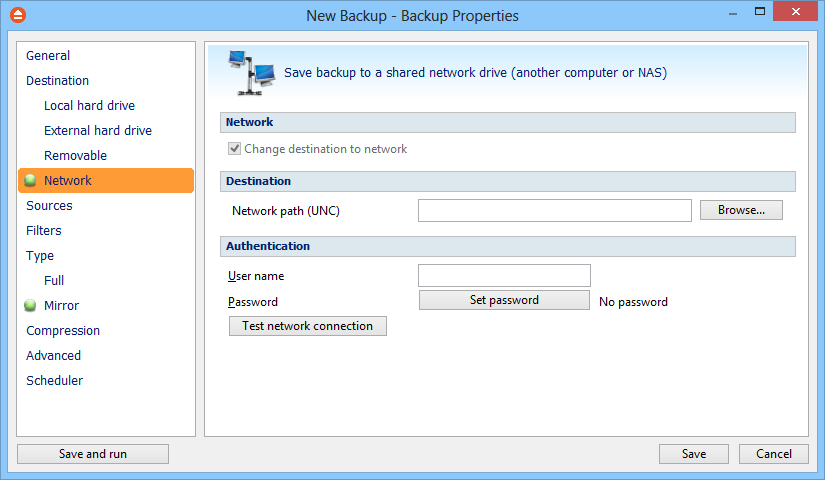 54 FBackup 5 You should not check this option if you use a rotation backup scheme with two or more removable hard drives. By default, this option is not checked. 6.3.