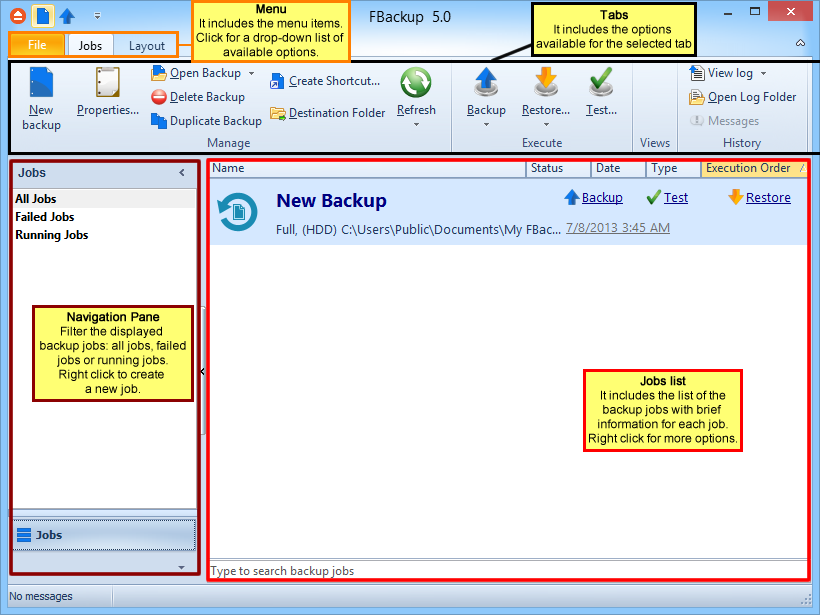 Introduction 1 Introduction 1.1 Product Description 7 FBackup is an award-winning backup software for Windows.