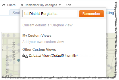 Any custom views that you or others create will always be related to the original view. As the original view is updated or republished, customized versions of the view are also updated.