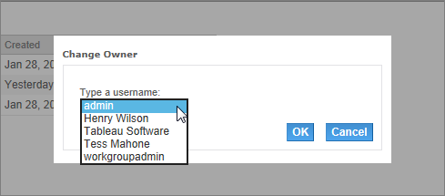 3. Type the name of a user or select a user from