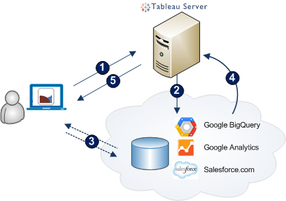 5. Tableau Server presents your workbook and data to you.