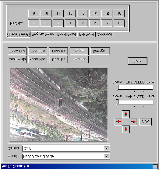 TeleEye III+ Reception Software User Guide PAGE 56 Basic Operation Camera Model Select: It shows the model name of the pre-defined ptz driver to be used.