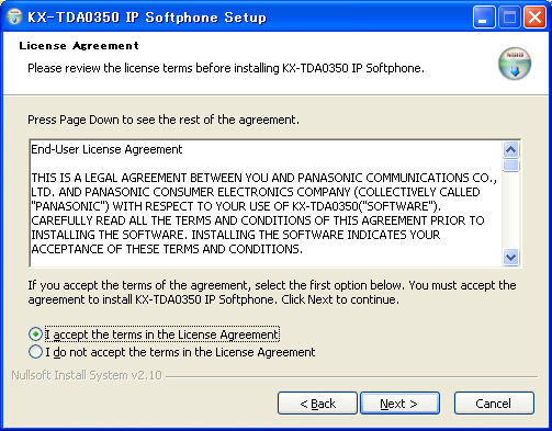 Installing the IP Softphone Software Notice: Shut down any other applications before installing the