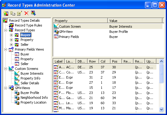 Administration Use this Center to create and manage Contact Record customizations.
