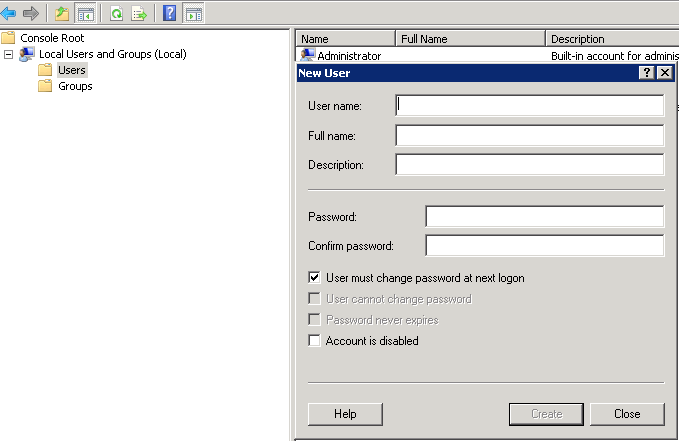 Configuring security numbers and special characters. When that is done you can close the MMC. 7.2.1.
