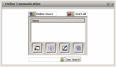 Figure 5.6 - Illustrates Online Communication windows. Figure 5.6 Conferencing 5.3.9.