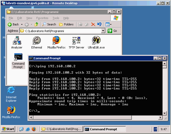 Available apps (1) Command prompt For ping, traceroute.