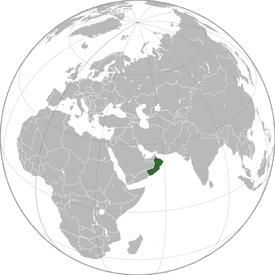 Its geographical features consist of central desert plain and rugged mountains in the north and south. The Sultanate of Oman is highlighted in green in Figure 21.