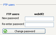 Settings 35 In order to create a new FTP user, go to the directory list in the lower part of the page.