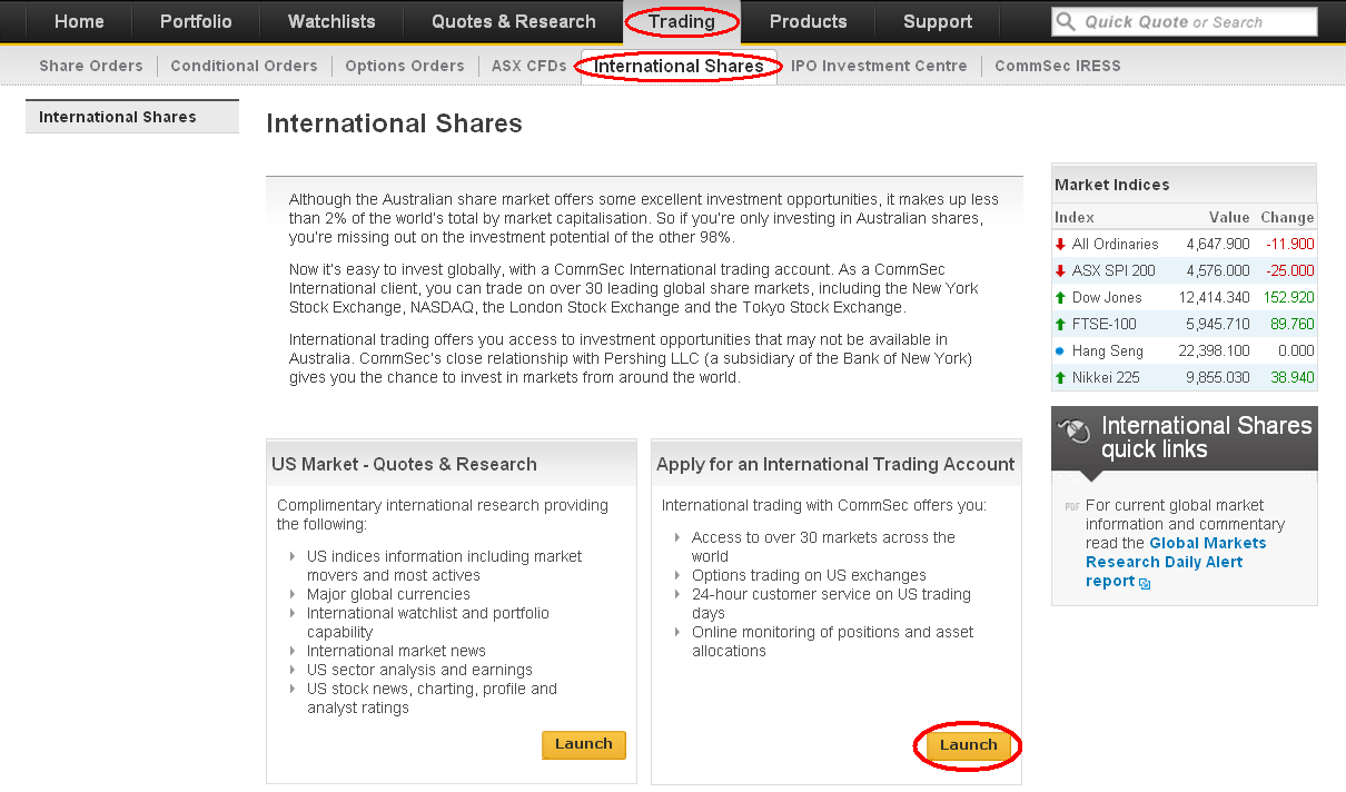 Getting Started User Guide International trading platform NetExchange Here we ve put together some helpful information and tips specific to International trading with CommSec.