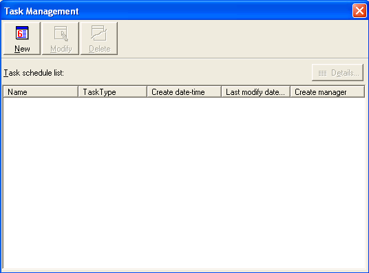 RocketRAID 2340 Driver and Software Installation To setup and schedule tasks highlight the Management menu, and select the Task Management function to open Task Management window.