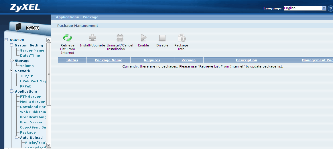 Management screen or enter the IP address shown in the GUI in your web browser. Figure 40. Applications link. 3.