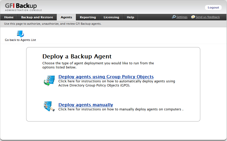 Screenshot 7 - Select agent deployment method 3.