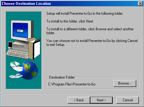 Software Installation and Setup 6. The program is installed in the previously specified folder within the Program File Folder.