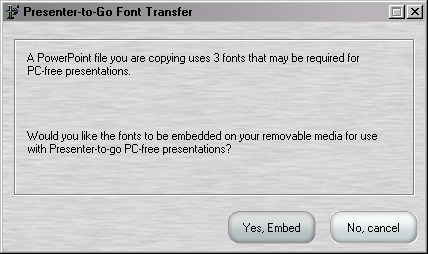 Preparing Slides and Embedding Required Fonts How to Embed PowerPoint File Fonts If you want to present PowerPoint file data (defined as files with extension of.
