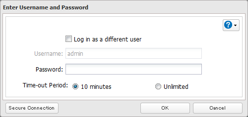 4 Click Change Password. 5 If this screen is displayed, enter the current password and click OK.
