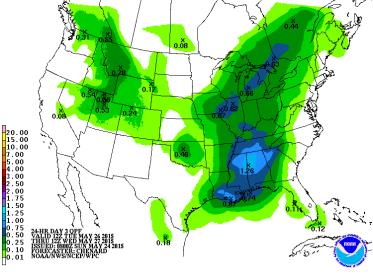 Precipitation Forecast, 1-3 Day Day 1