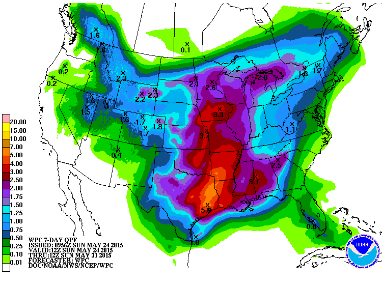 Precipitation Forecast, 7 Day