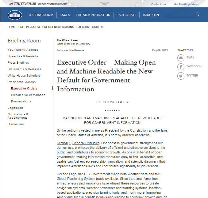 United States Open Data Policy OMB