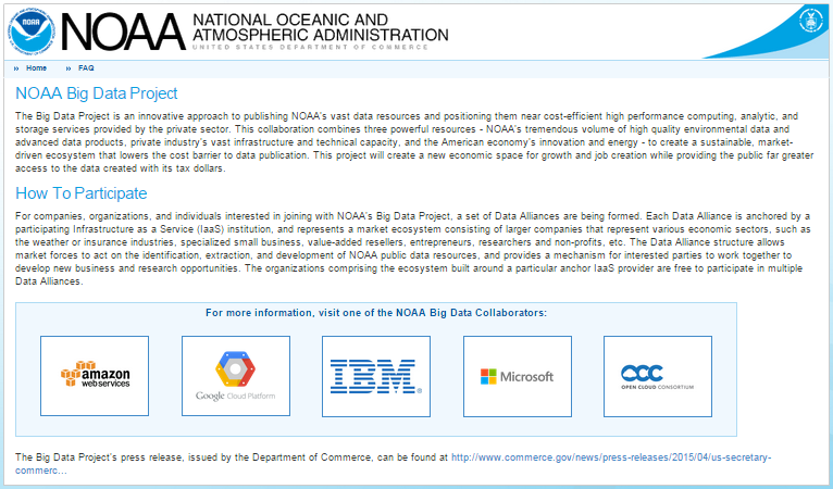 NOAA Big Data Project Researching self-sustainable business