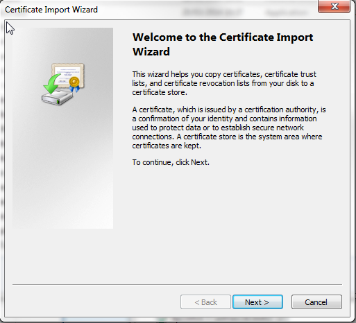 ver4.3 page: 22 - Click on the OK button to download the certificate on your PC. DO NOT install it in your browser! 6.1.