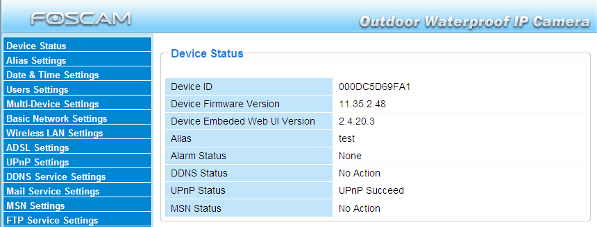 3.9 UPnP Settings Choose Using UPnP to MAP Port and then click Submit. Figure 3.25 The default UPnP status is closed.