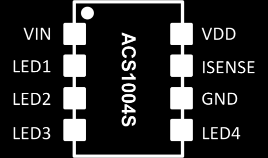 PIN CONFIGURATION (SOIC 8LD with EP) Figure 2.