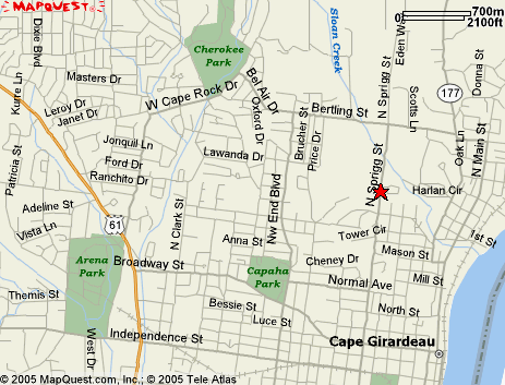 Maps and Diagrams Location Maps Overview Map The red star denotes the Show Me Center s location, just off Hwy 55, between Memphis, TN and St.