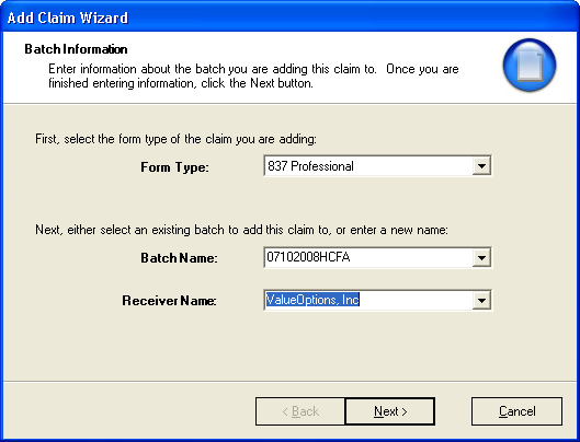 1. Click the Batch Name on the left side of the Batch Browse Window. EDI Claims Link for Windows 2.