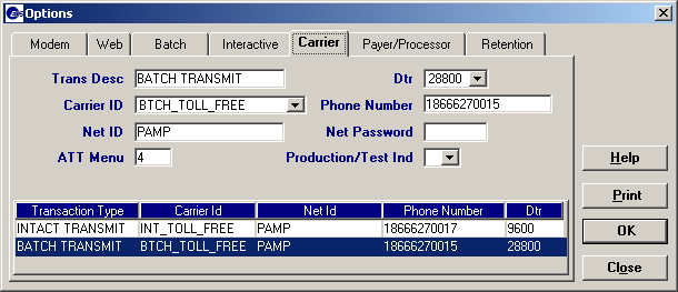 Net Password: Enter pamopds. Enter this field exactly as shown because the value is case sensitive. ATT Menu: Enter 3. Production Test Indicator: Choose P for Production from the drop down box.