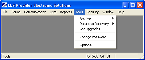 12 Using the Tool Functions The Provider Electronic Solutions software provides several tool functions.