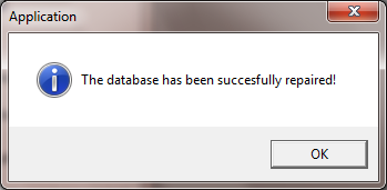 Step 3. Click to clear the message from your screen. 12.3 Repair the Database You should repair your database whenever you have trouble accessing your data.