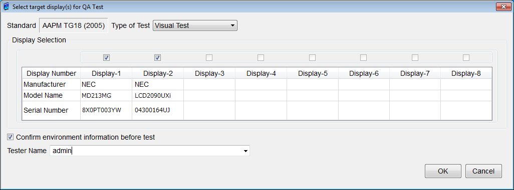 Figure 66: QA Test screen 7.4.1. QA Test Start Click Start QA Test to display Select Target Display(s) for QA Test dialog box, as shown in Figure 67.