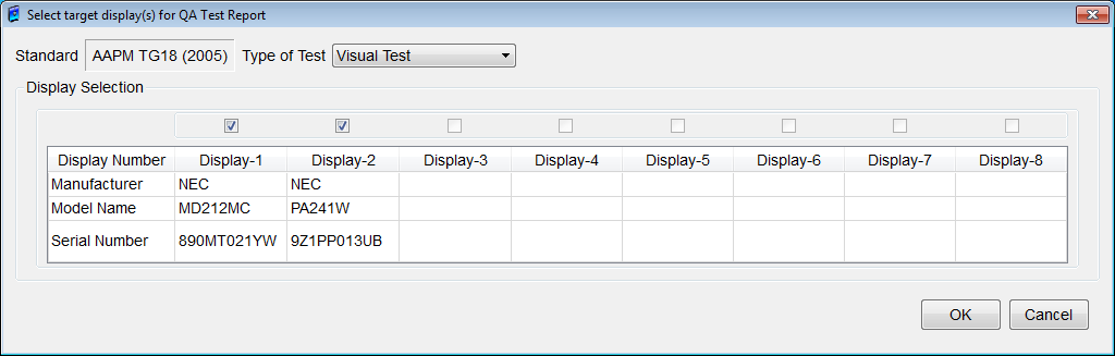 details on this QA Test Report dialog box. NOTE: An Acceptance Test should be the first QA test completed before any other QA Test is made.