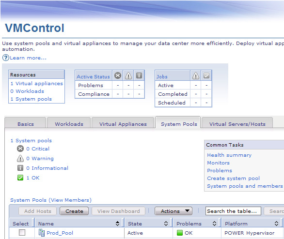 Productivity Center (TPC) SAN Volume Controller (SVC) Simplified SAN management Integration with VMControl for automated disk provisioning Best-of-breed Power Systems Virtualization Sharing and