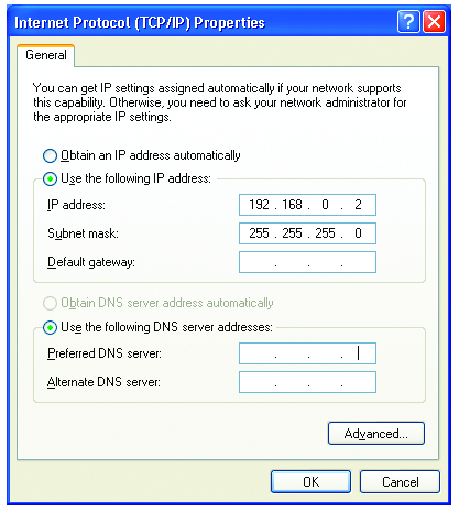 Networking Basics (continued) Assigning a Static IP Address in Windows XP/2000 Click on Internet Protocol (TCP/IP) Click Properties In the window below, select Use the following IP address.