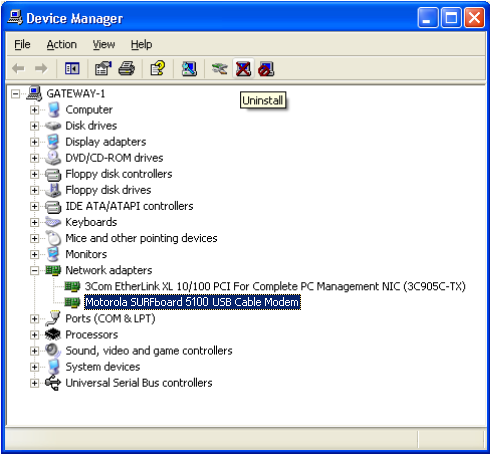 6 On the System Properties window, click the Hardware tab. 7 Click Device Manager to display the Device Manager window. 8 On the Device Manager window, double-click Network adapters.